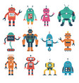 set robot characters isolated on white vector image