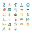 Summer and Holidays Colored Icons 2 vector image