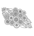 Summer doodle flower ornament with leaves Hand vector image vector image
