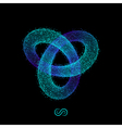 Trefoil Knot 3D Geometric Shape vector image