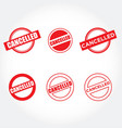 various cancelled stamps vector image vector image