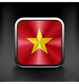 Vietnam icon flag national travel icon country vector image vector image