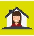 woman hand house key vector image