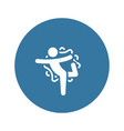 yoga lord of the dance pose icon flat design vector image vector image