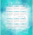 business calendar template for 2016 vector image