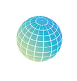 earth symbol global network on planet concept sign vector image