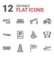 12 traffic icons vector image vector image