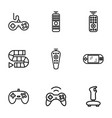 9 controller icons vector image vector image