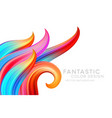 abstract background with color fantastic waves and vector image vector image
