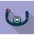 Aircraft Steering Helm Icon vector image vector image
