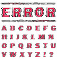 alphabet on white background vector image vector image