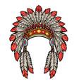 american native indian head dress vector image vector image