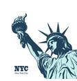 american symbol - statue liberty vector image