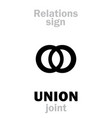 astrology union join vector image vector image