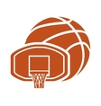 basket ball and basketball design vector image vector image