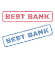 best bank textile stamps vector image vector image