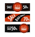 Black friday horizontal banners set vector image vector image