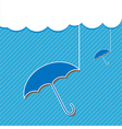 Blue umbrella and Cloud vector image vector image