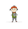 boy with gadget sketch for your design vector image
