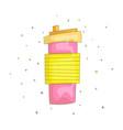 cartoon fun cute of pink mug vector image
