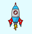 cartoon space ship vector image