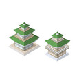 chinese pagoda building vector image