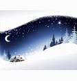 christmas landscape background vector image vector image