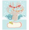 Christmas reindeer New Year greeting card vector image vector image