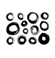 circle black paint brush strokes collection vector image