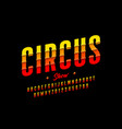 circus show style font design vector image vector image