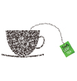 Cup made from tea leaf vector image vector image