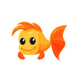 cute cheerful goldfish funny fish cartoon vector image vector image