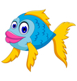 cute fish cartoon posing vector image vector image