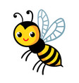 cute wasp on a white background vector image