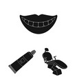 dental care black icons in set collection for vector image vector image