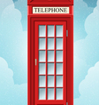 english red telephone cabin on grass vector image