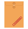 Envelope stamp classified vector image vector image