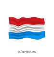 flag luxembourg vector image vector image