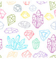 gems pattern 1 vector image