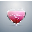 Glass transparent heart with sparkles vector image vector image