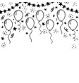 Hand drawn doodle black and white balloon design