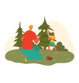 happy father dad and child son playing together vector image vector image