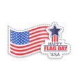 happy flag day celebration vector image