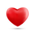 happy valentines day with symbol 3d red heart vector image vector image