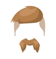 Hipster fashion man hair and beards mustache vector image
