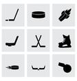 hockey icon set vector image vector image