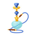 hookah oriental tobacco pipe relaxation and east vector image