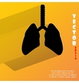 Human lung Flat modern web button with long shadow vector image
