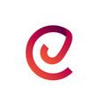 letter cj monogram logo design vector image vector image