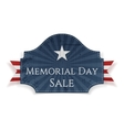 Memorial Day Sale textile Poster and Ribbon vector image vector image